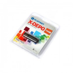 PLATINET USB 2.0  X-DEPO Flash Disk 16GB μαύρο PMFE16B